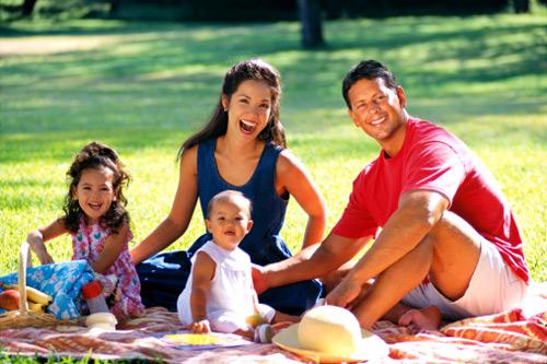 Cuộc sống thoải mái gia đình hạnh phúc
