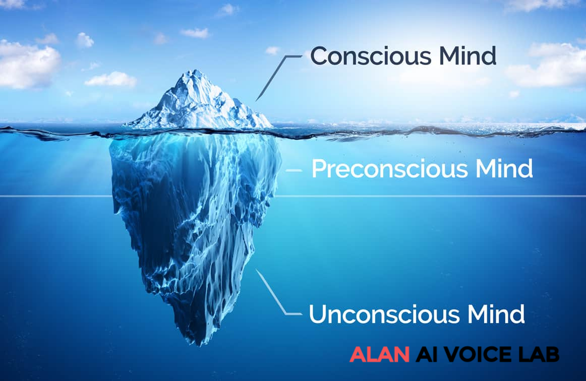 The unconscious mind is the lowest layer of iceberg