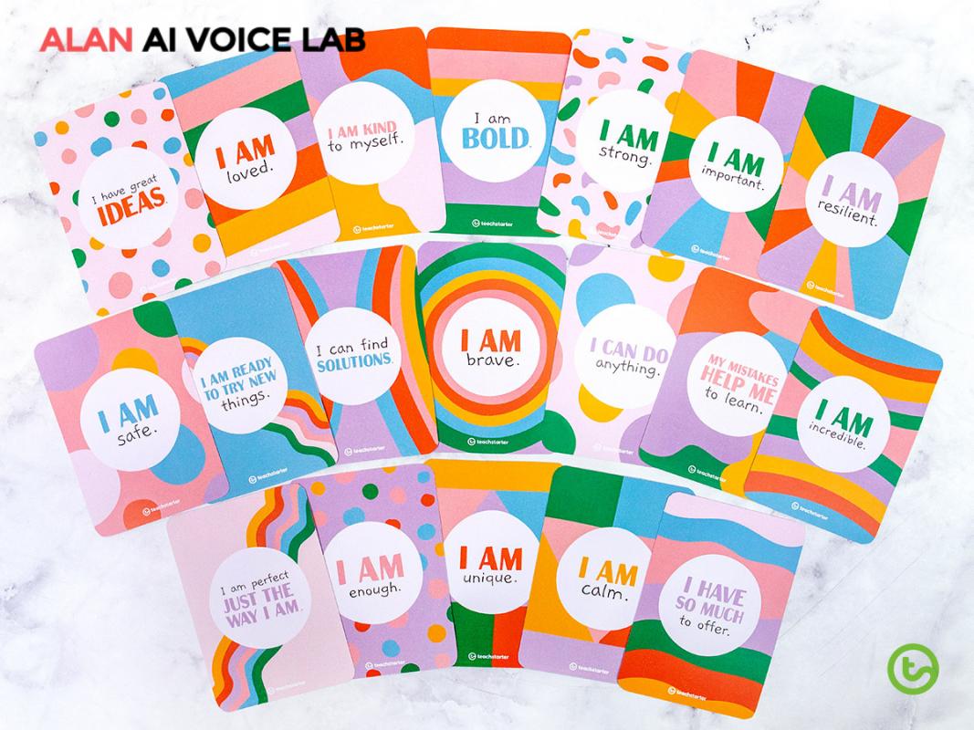 Las tarjetas de afirmación pueden ayudar a los estudiantes a desarrollar la habilidad de autoempoderamiento.