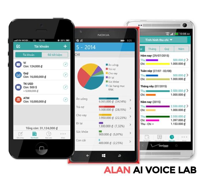 app quản lý chi tiêu gia đình tính phí